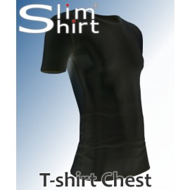 Chest t-shirt pseudo gynecomastia compression shirt vest