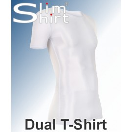 Dual T-Shirt | Figurformend shapewear t-shirt für Männer