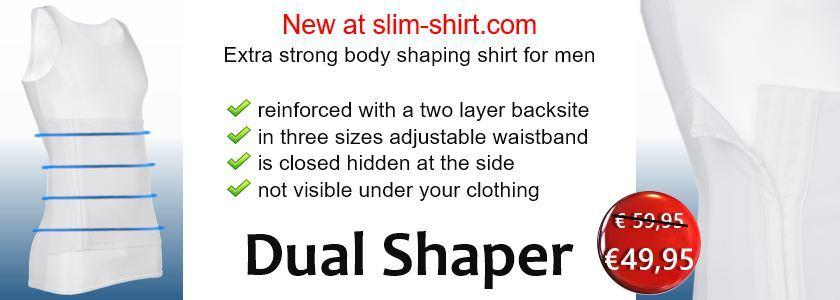 Dual Shaper extra strong body shaping shirt vest for men