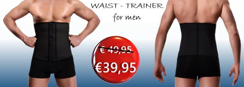 Waist trainer corset for men